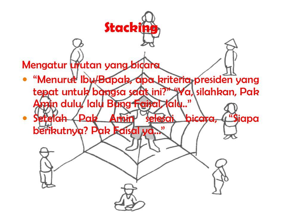 Stacking Mengatur urutan yang bicara
