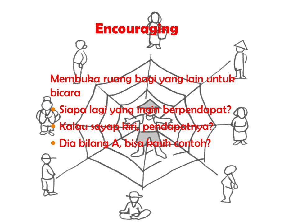 Encouraging Membuka ruang bagi yang lain untuk bicara