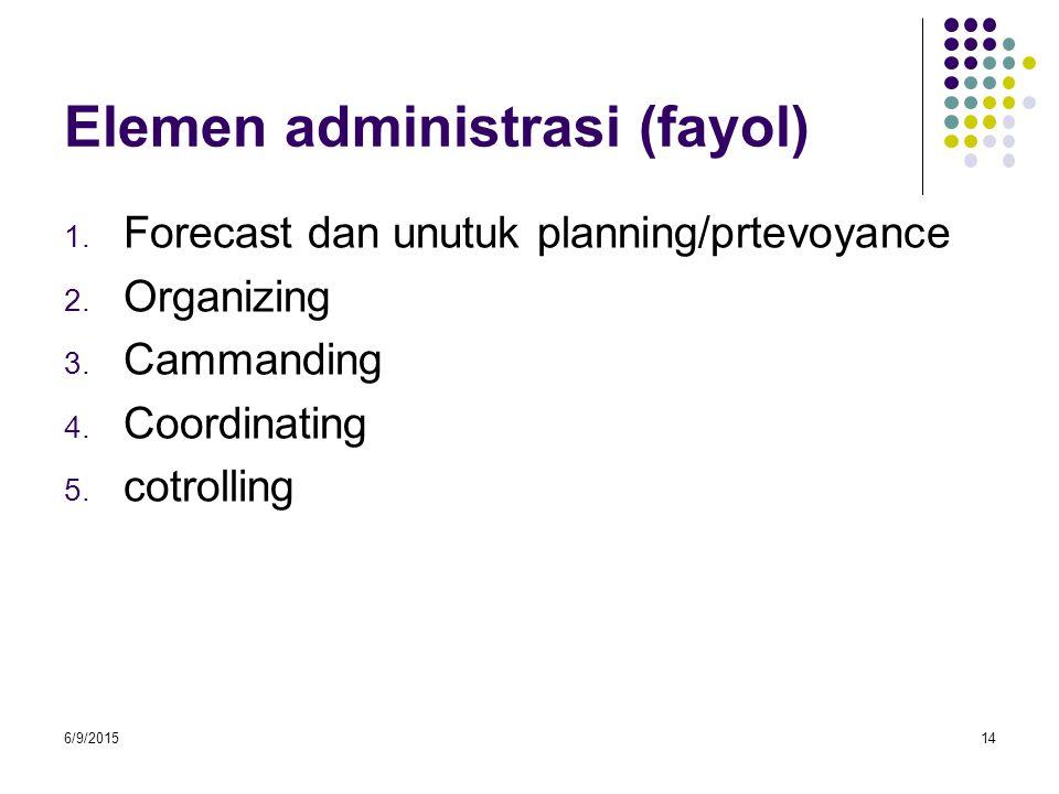Elemen administrasi (fayol)