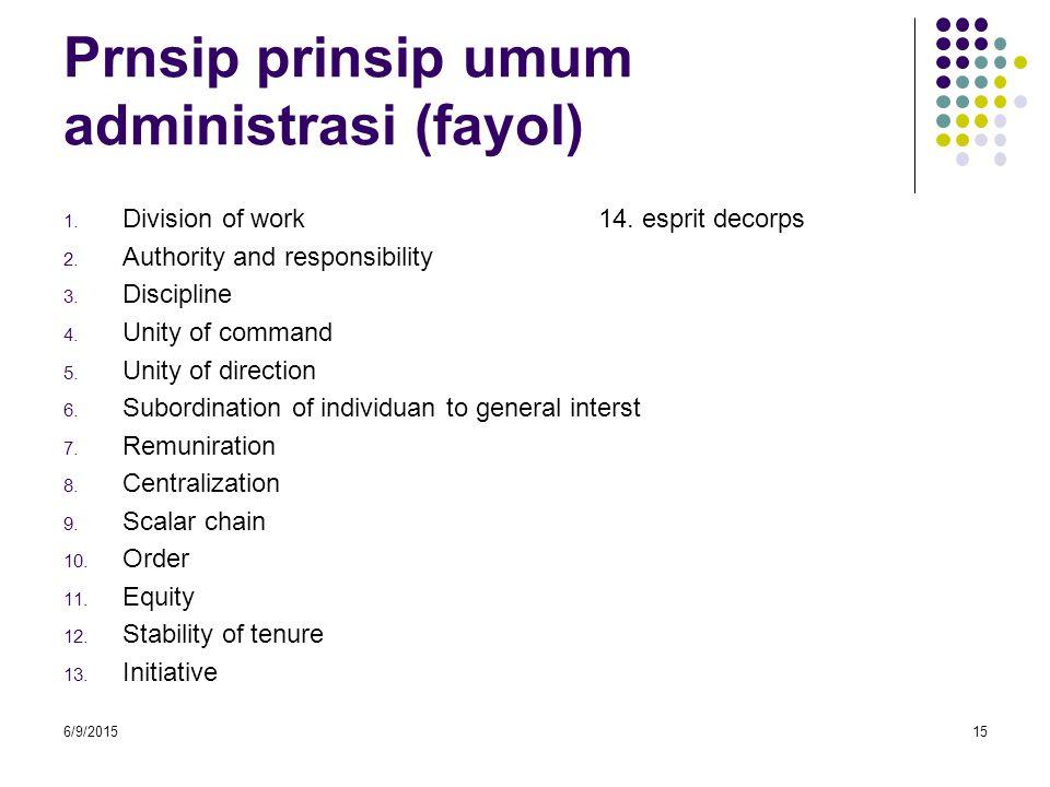 Prnsip prinsip umum administrasi (fayol)