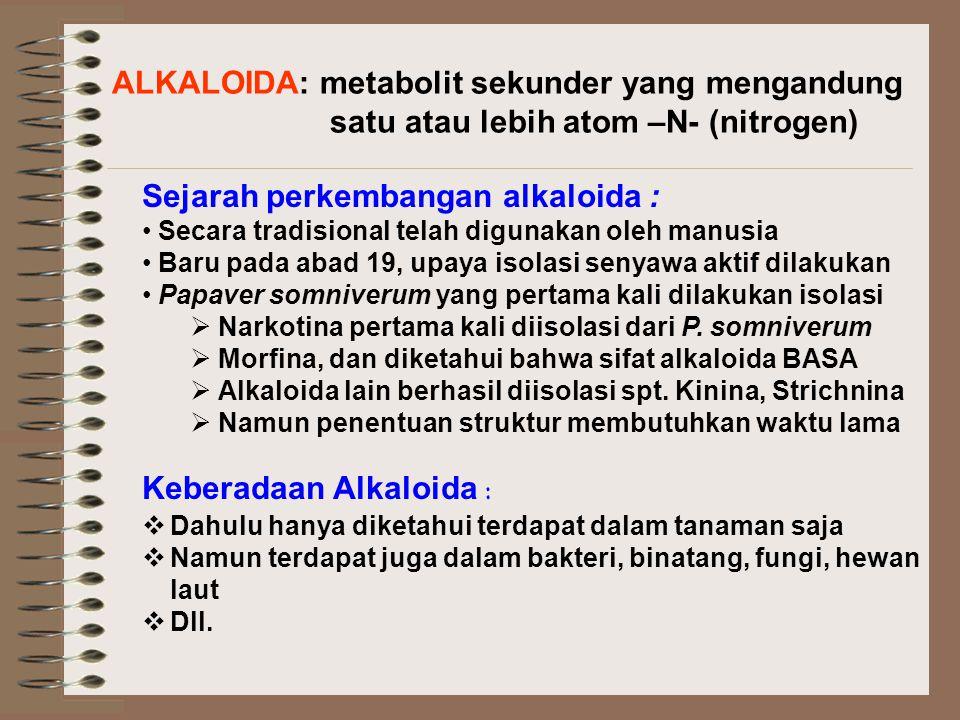 ALKALOIDA: metabolit sekunder yang mengandung