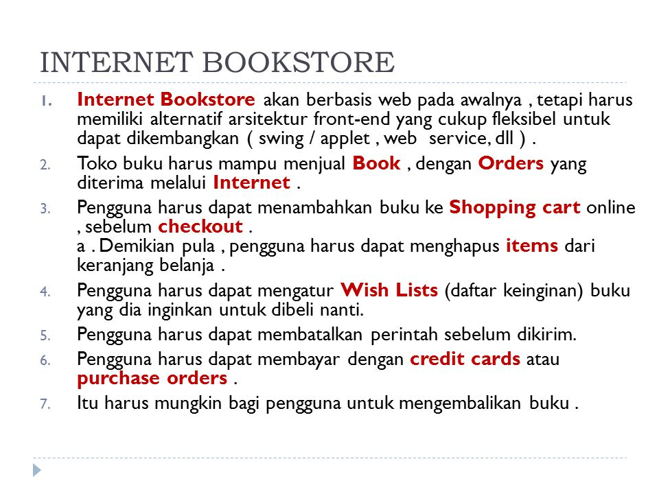 INTERNET BOOKSTORE