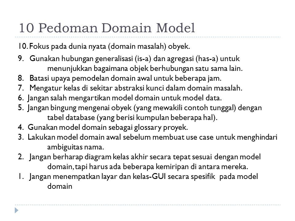 10 Pedoman Domain Model