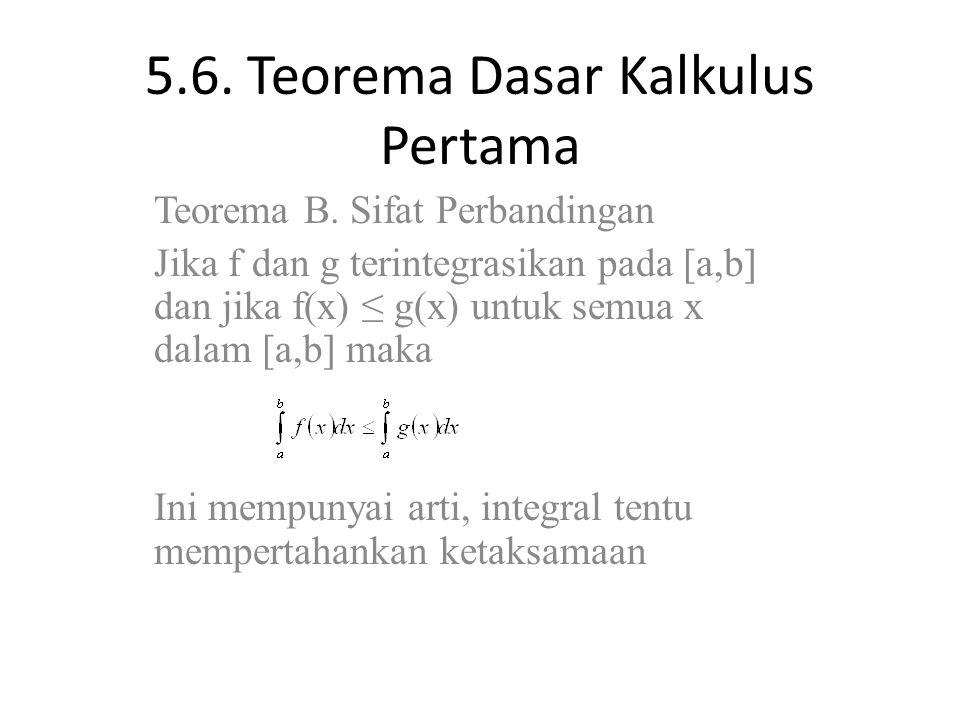 5.6. Teorema Dasar Kalkulus Pertama