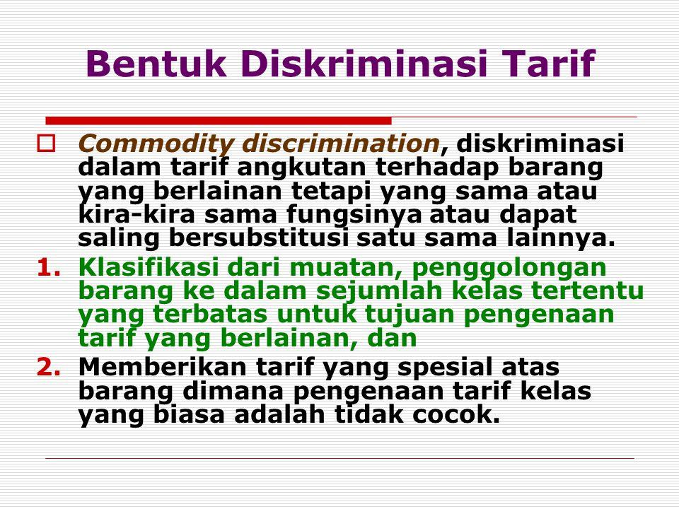 Bentuk Diskriminasi Tarif