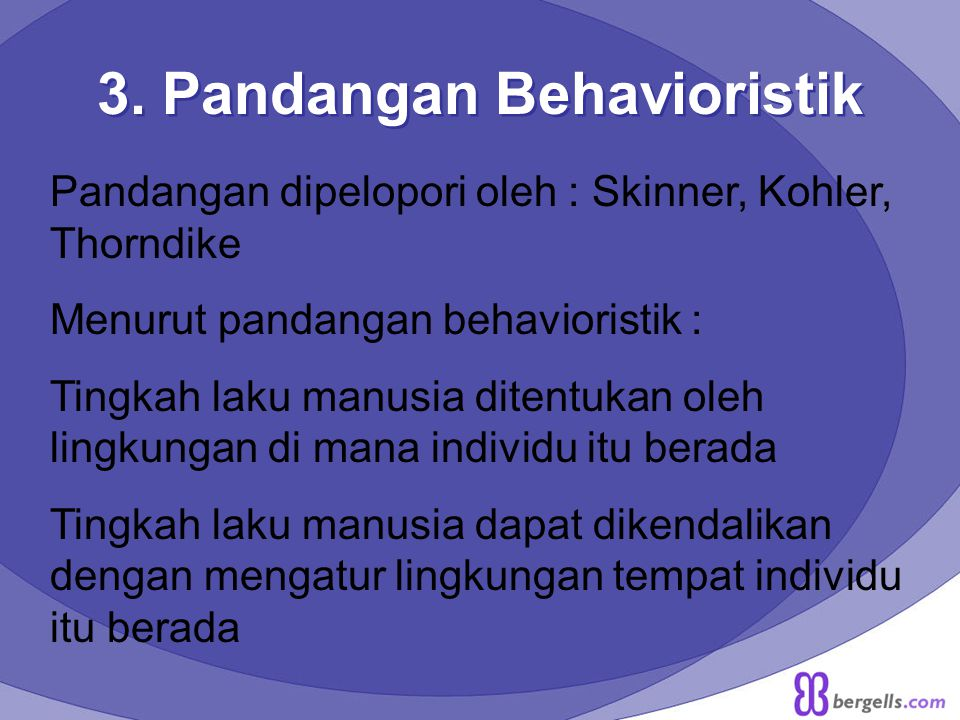 3. Pandangan Behavioristik