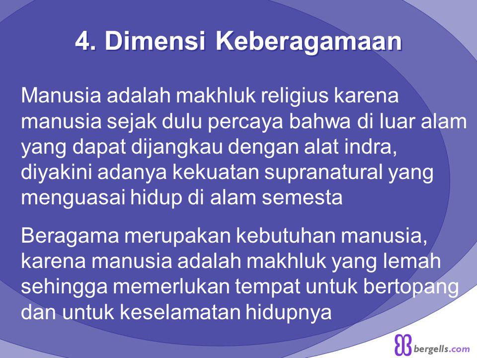 4. Dimensi Keberagamaan