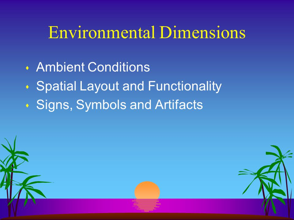 Environmental Dimensions