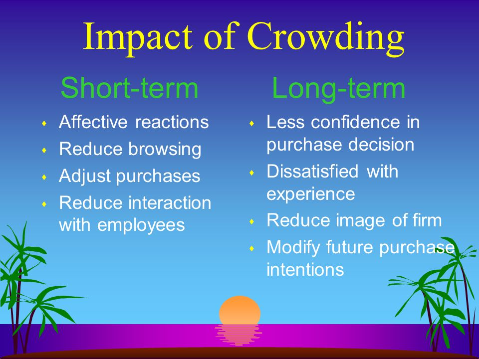 Impact of Crowding Short-term Long-term Affective reactions