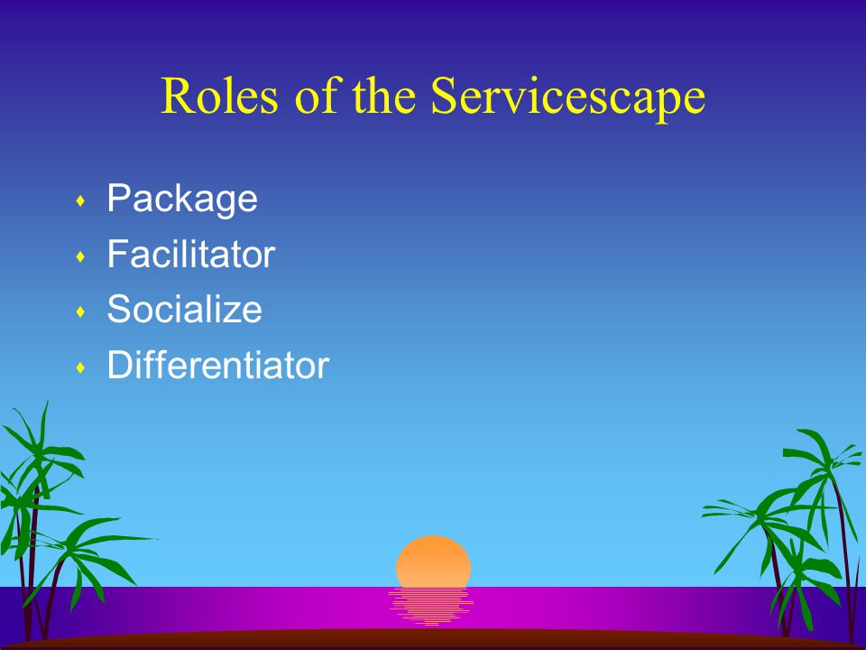 Roles of the Servicescape