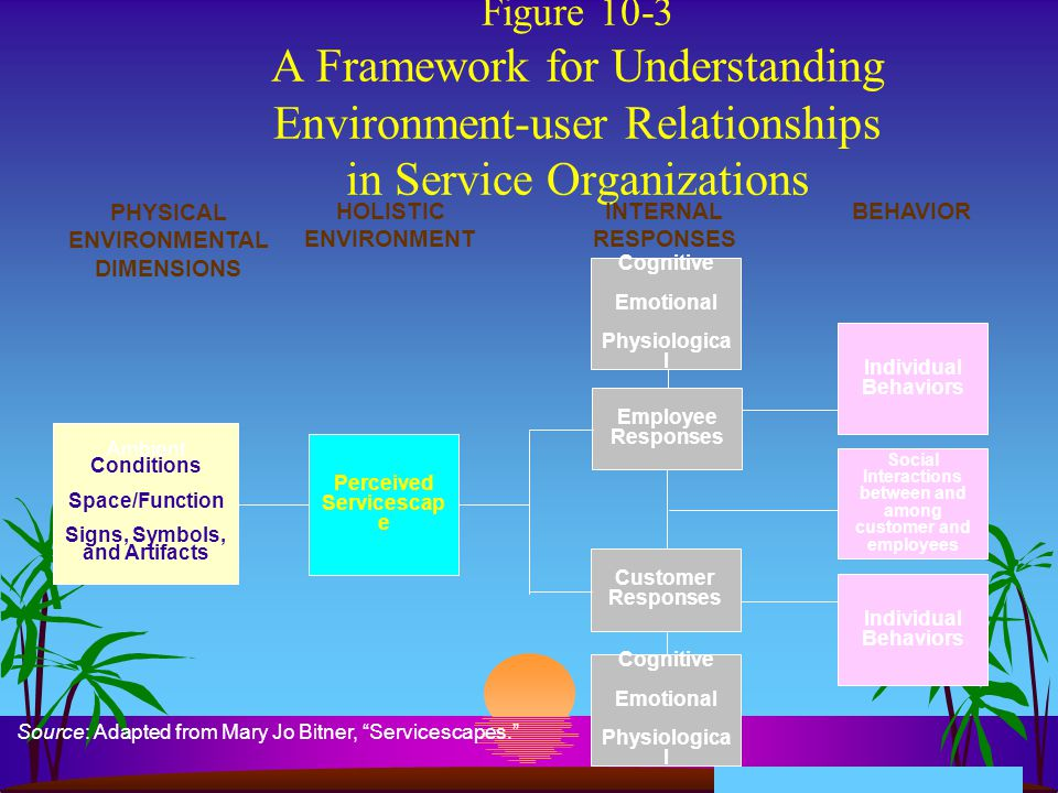 Figure 10-3 A Framework for Understanding Environment-user Relationships in Service Organizations