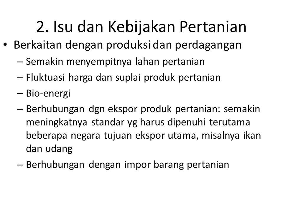 2. Isu dan Kebijakan Pertanian
