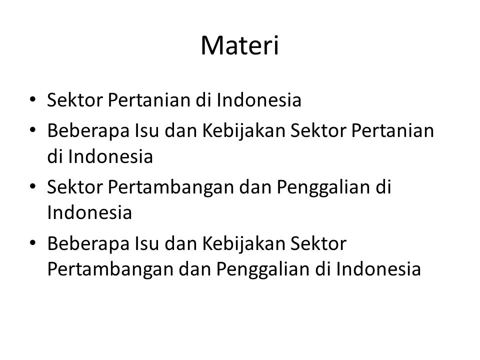 Materi Sektor Pertanian di Indonesia
