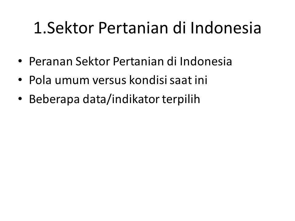 1.Sektor Pertanian di Indonesia
