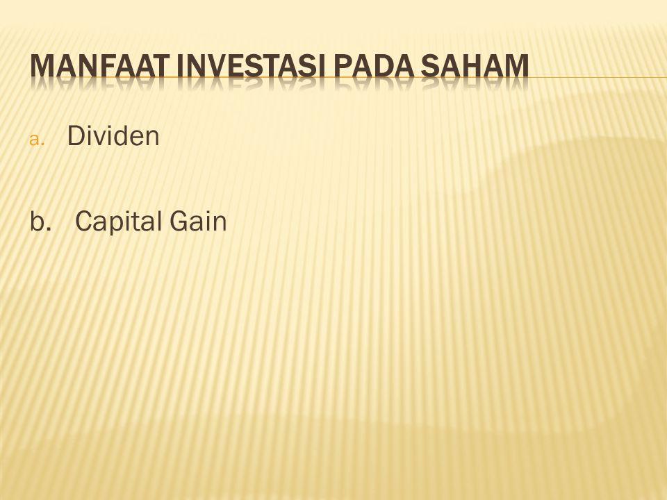 Manfaat investasi pada saham