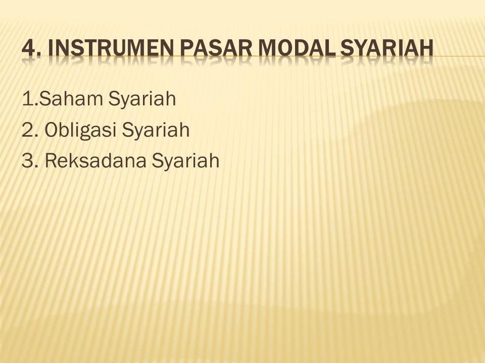 4. Instrumen Pasar Modal Syariah