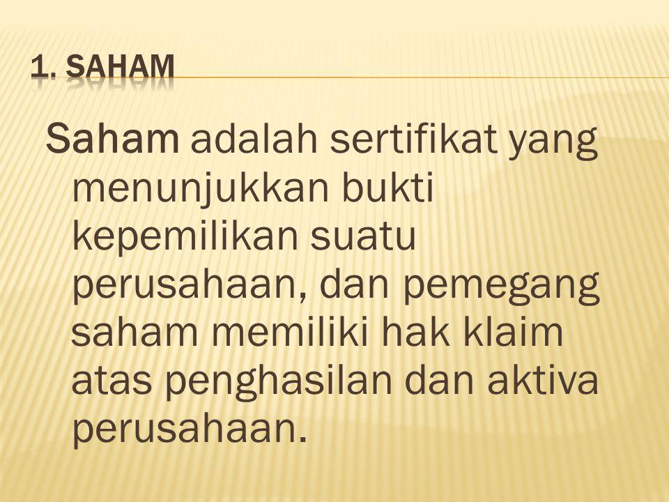1. SAHAM