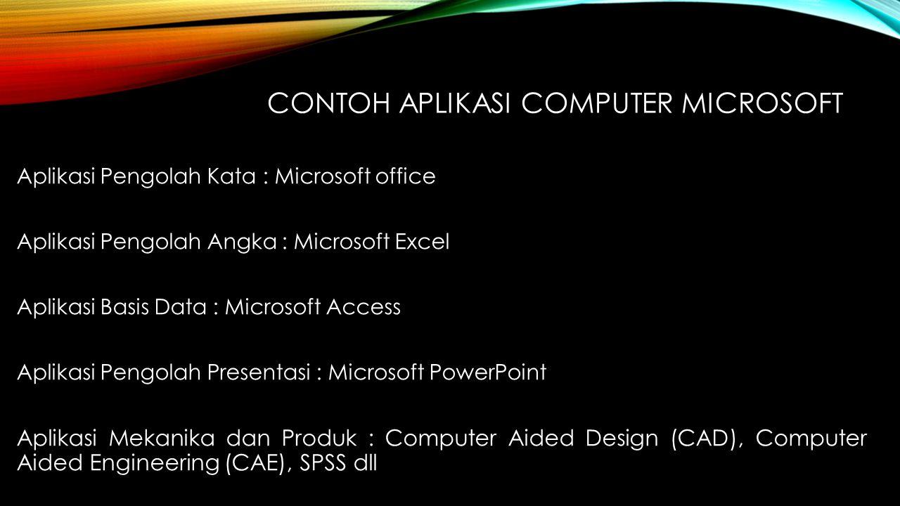 Contoh Aplikasi computer microsoft