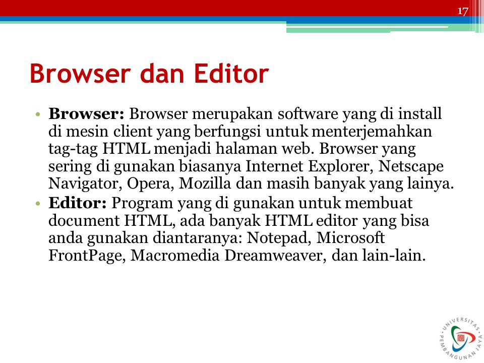 Browser dan Editor