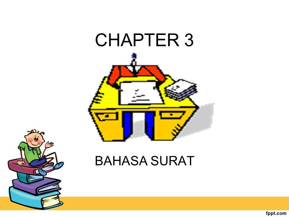 CHAPTER 3 BAHASA SURAT