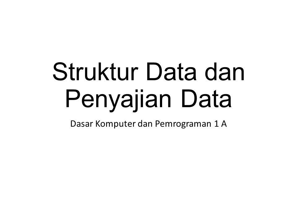 Struktur Data dan Penyajian Data