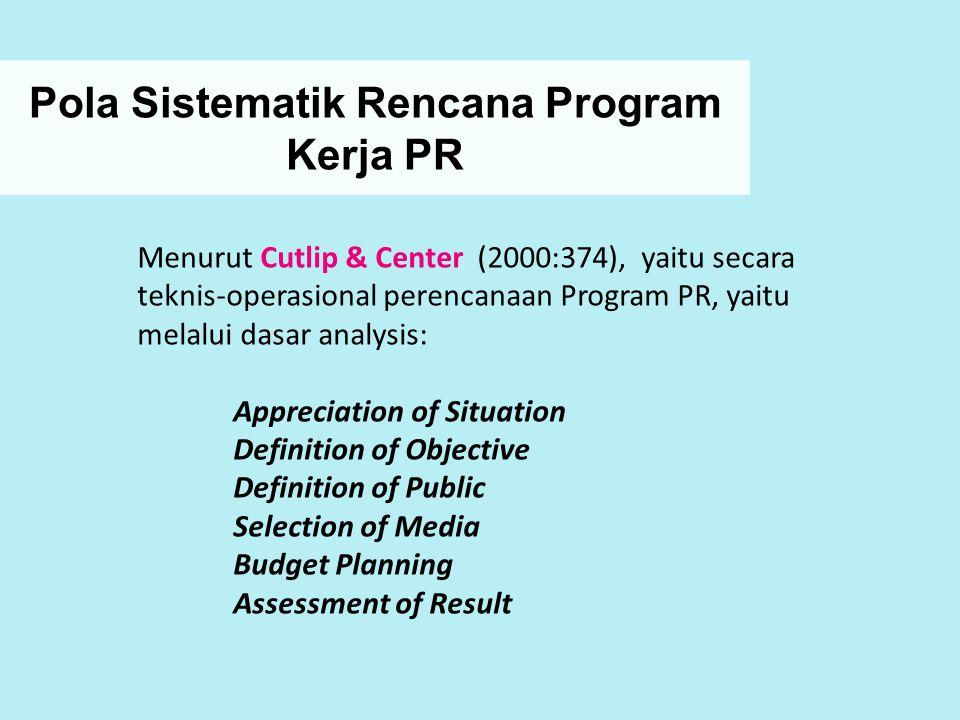 Pola Sistematik Rencana Program Kerja PR