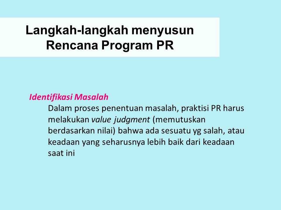 Langkah-langkah menyusun Rencana Program PR