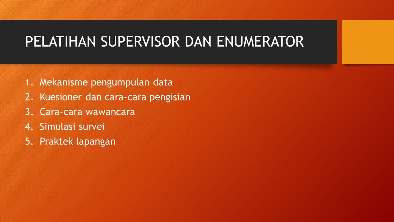 PELATIHAN SUPERVISOR DAN ENUMERATOR
