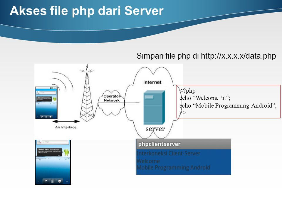 Akses file php dari Server