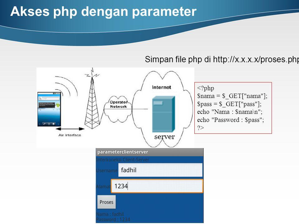 Akses php dengan parameter