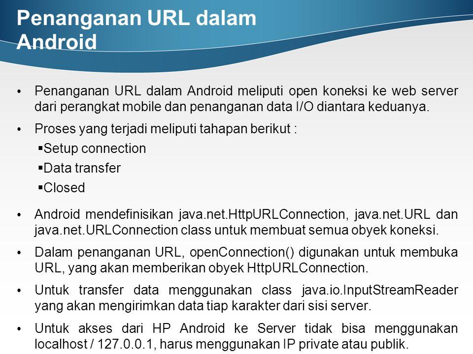Penanganan URL dalam Android