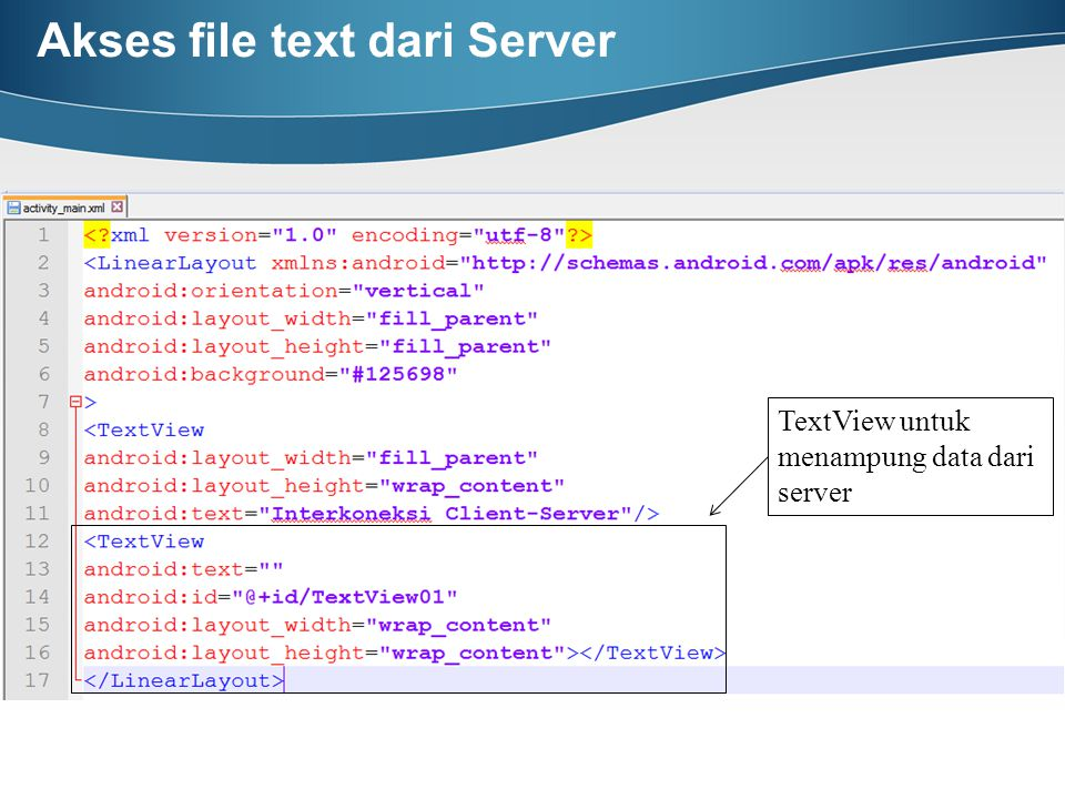 Akses file text dari Server