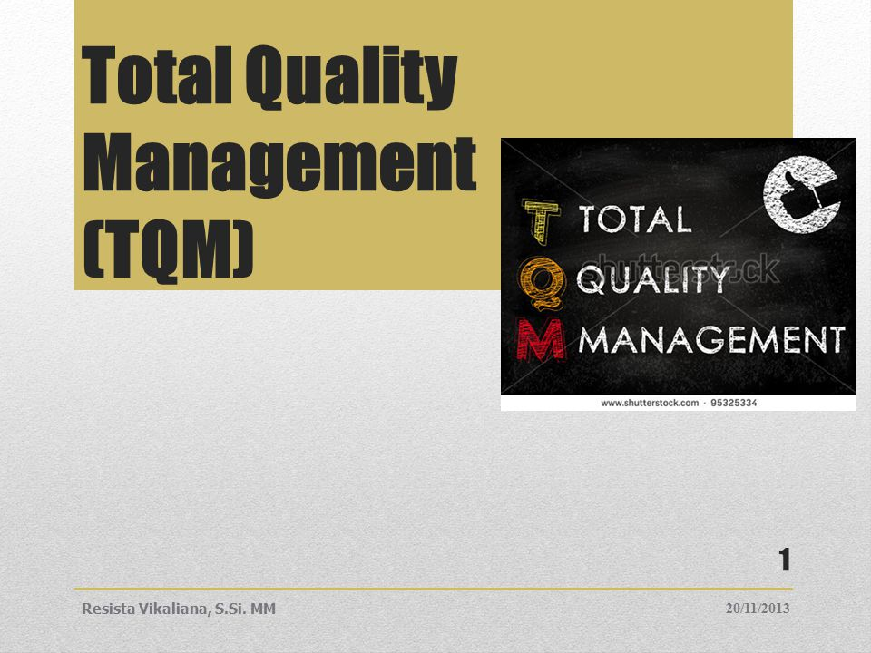 the road to tqm Meeting iso 9000 requirements doesn't mean your organization has completed a total quality management process but preparing your company for iso 9000 is a good start on the road to total quality even companies that are further down the quality route will find iso 9000 to be a useful tune-up for.