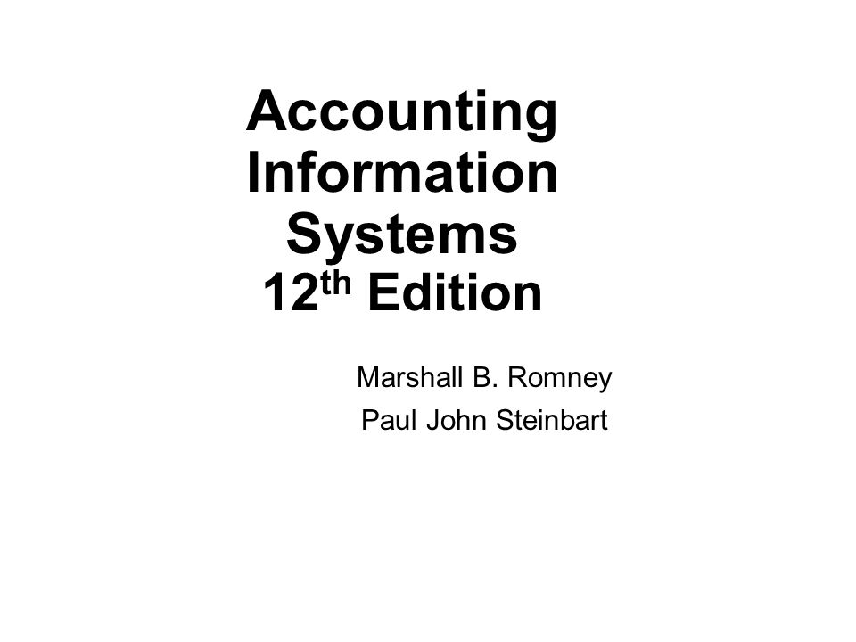 Accounting Information Systems 12th Edition