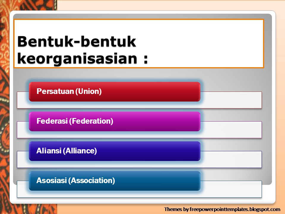 Bentuk-bentuk keorganisasian :