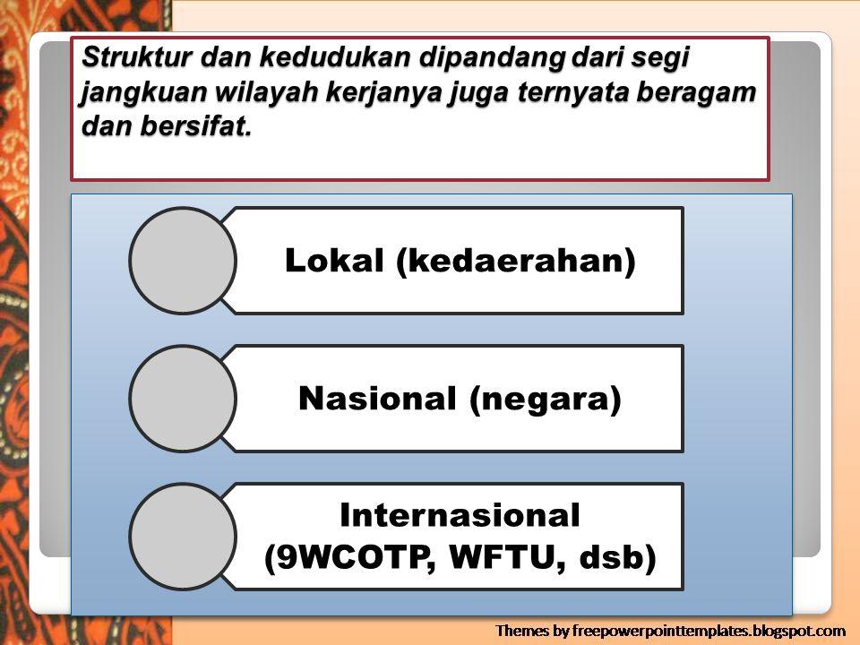 Internasional (9WCOTP, WFTU, dsb)