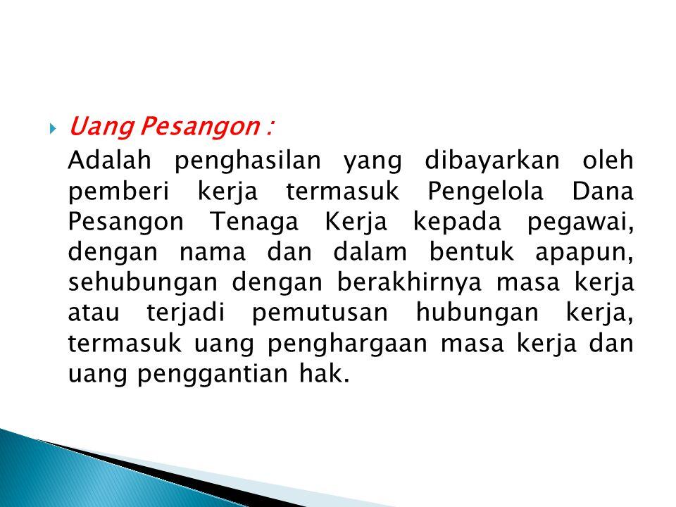 Uang Pesangon :