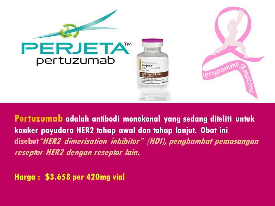 Pertuzumab adalah antibodi monokonal yang sedang diteliti untuk kanker payudara HER2 tahap awal dan tahap lanjut. Obat ini disebut HER2 dimerisation inhibitor (HDI), penghambat pemasangan reseptor HER2 dengan reseptor lain.