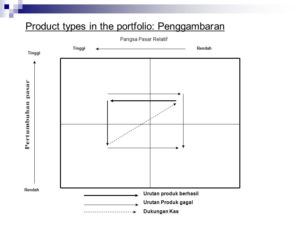 Product types in the portfolio: Penggambaran
