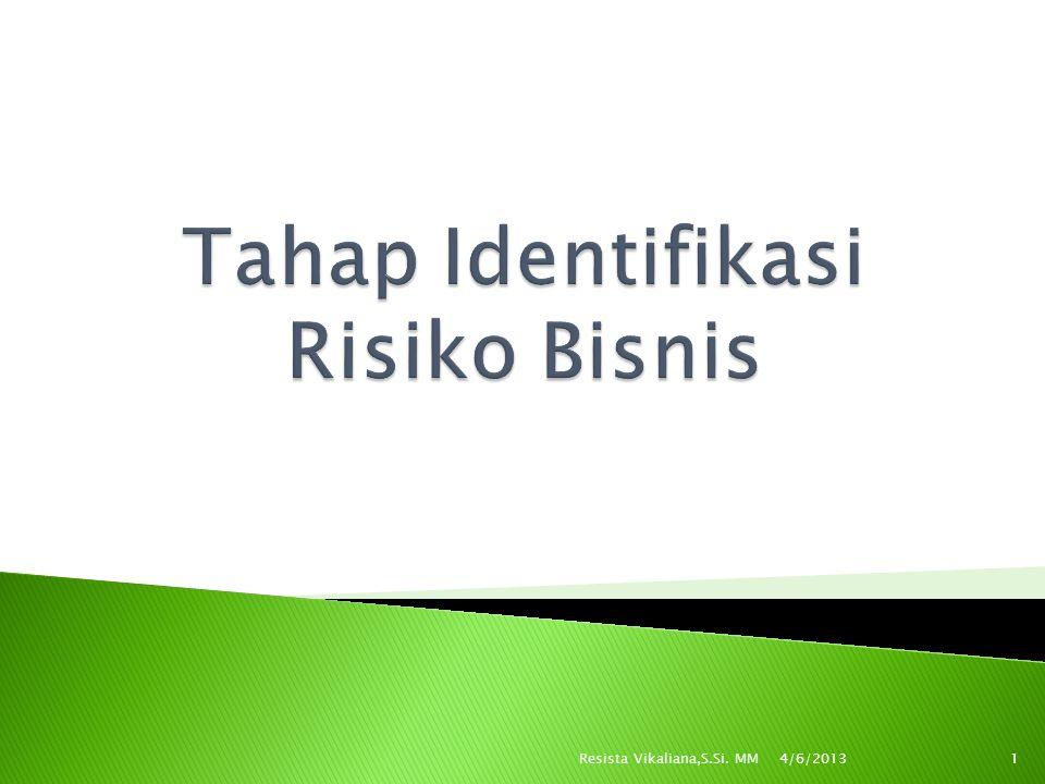 Tahap Identifikasi Risiko Bisnis