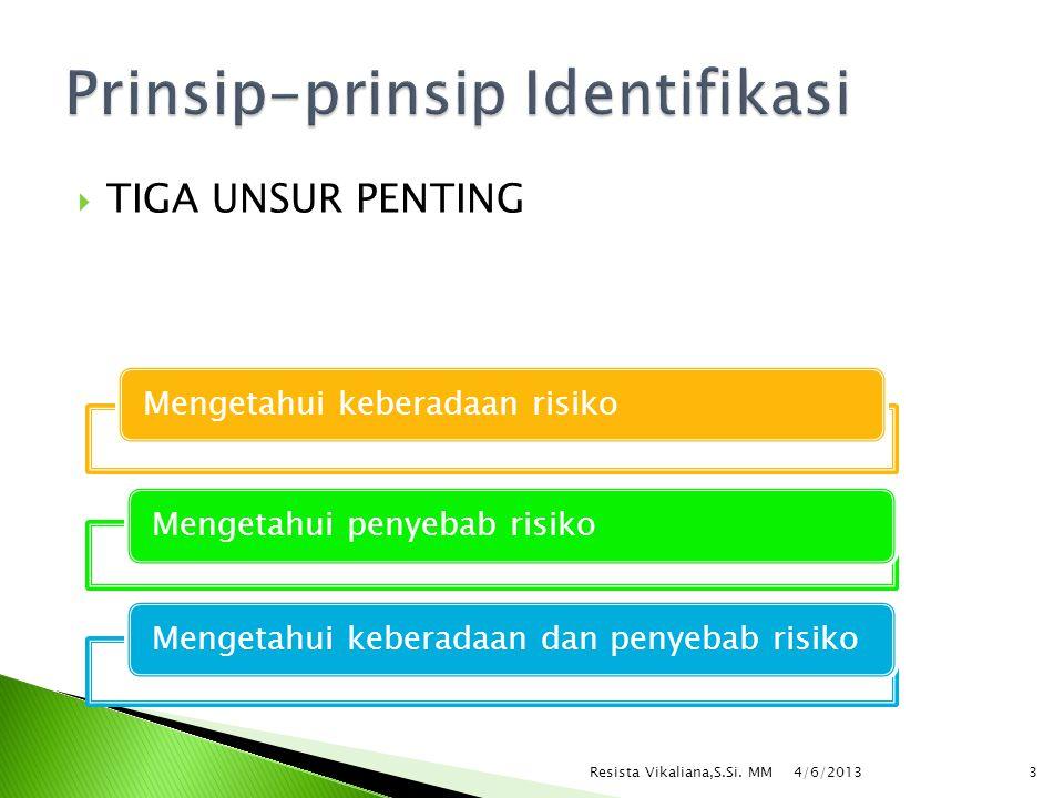 Prinsip-prinsip Identifikasi