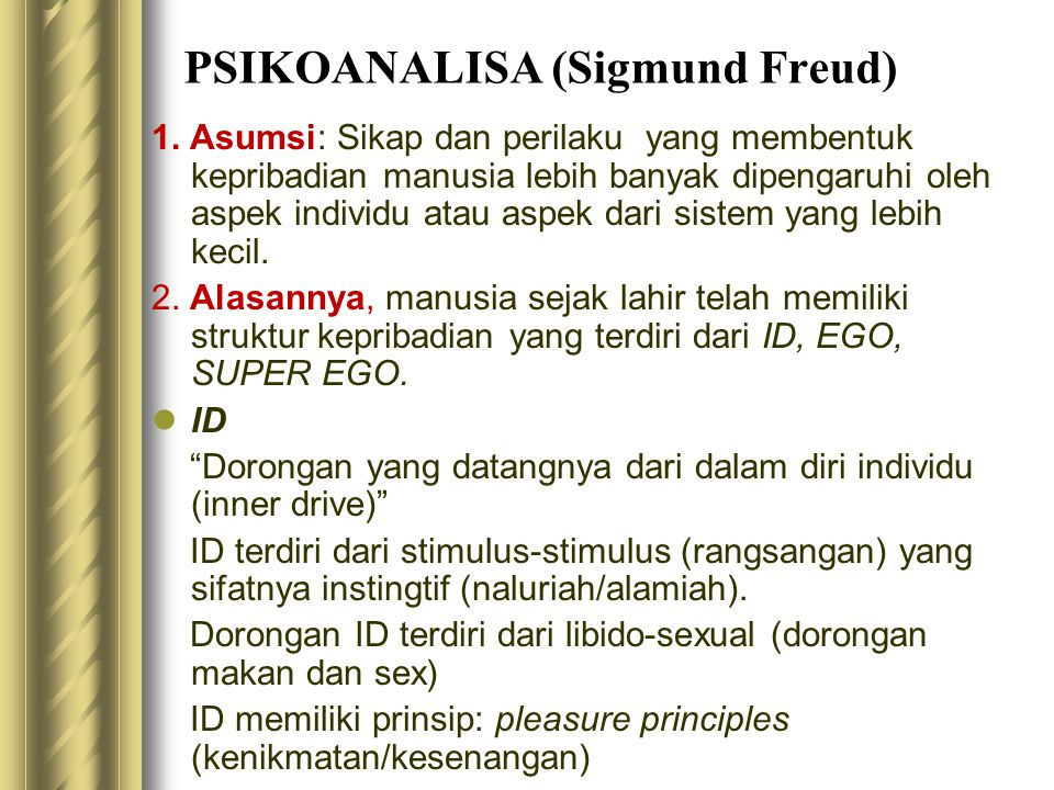 PSIKOANALISA (Sigmund Freud)