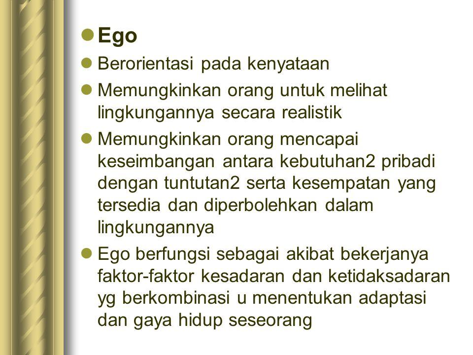 Ego Berorientasi pada kenyataan