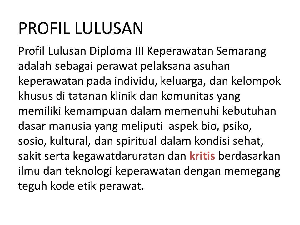 PROFIL LULUSAN