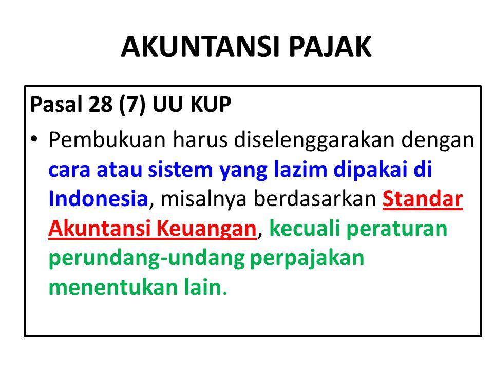 AKUNTANSI PAJAK Pasal 28 (7) UU KUP