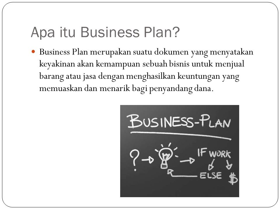 Apa itu Business Plan