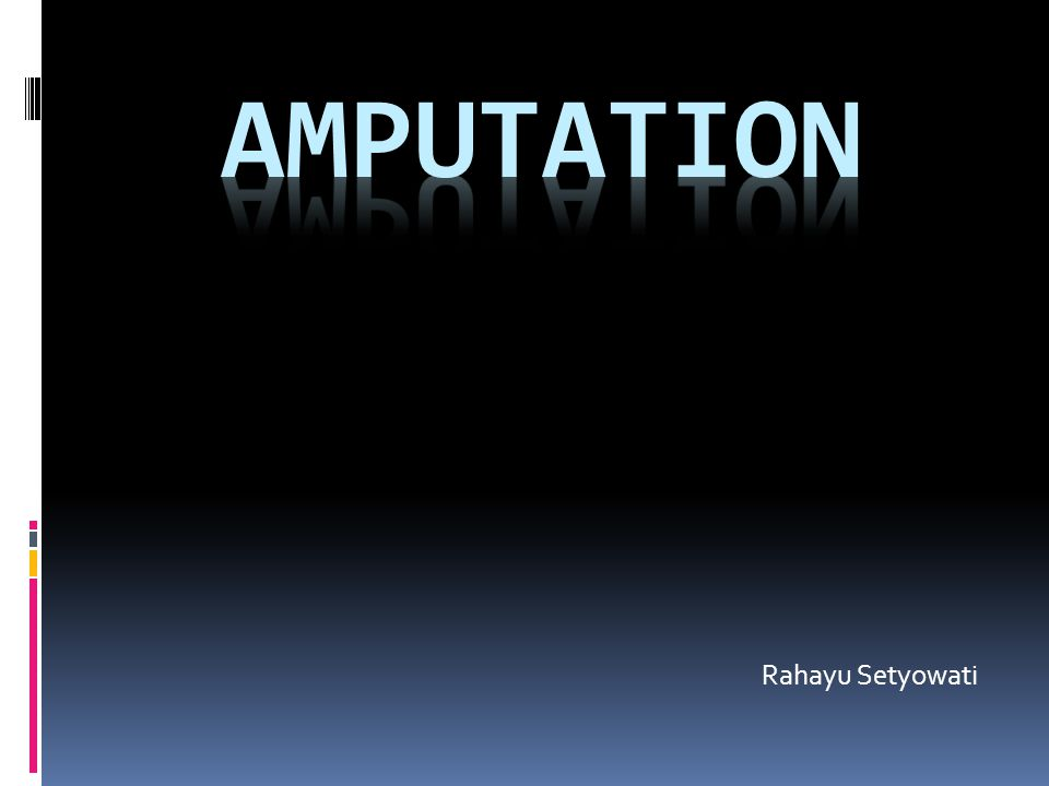 amputation Rahayu Setyowati
