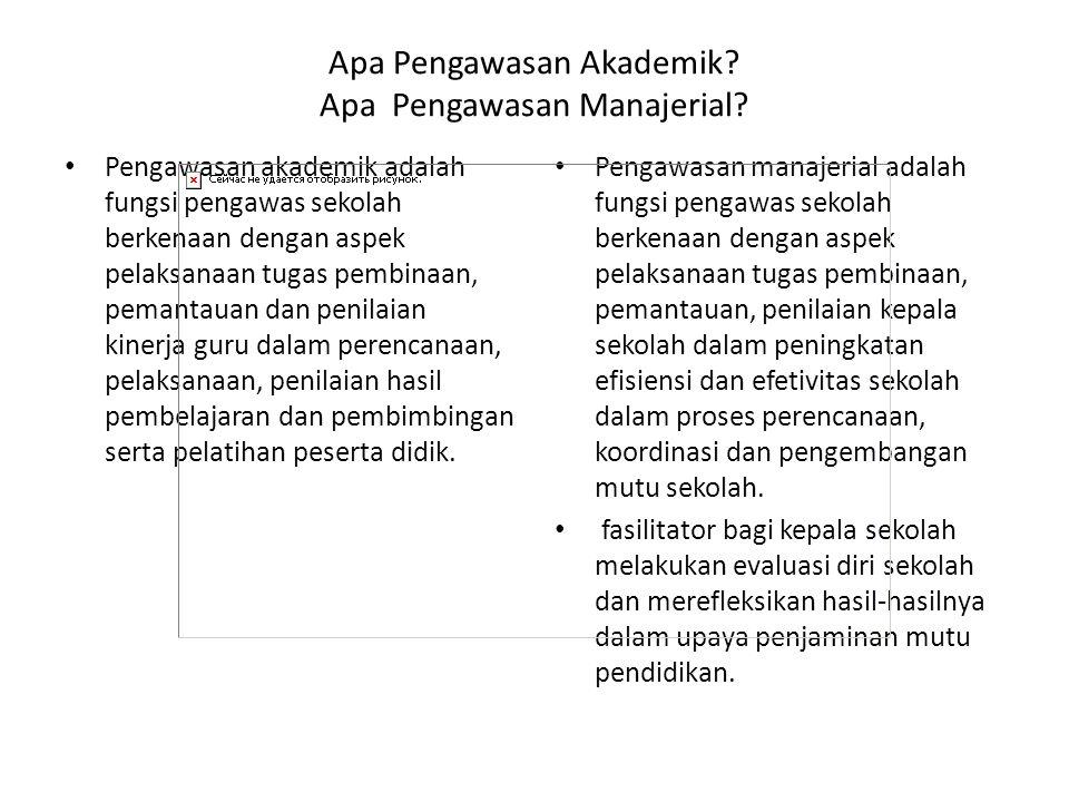 Apa Pengawasan Akademik Apa Pengawasan Manajerial