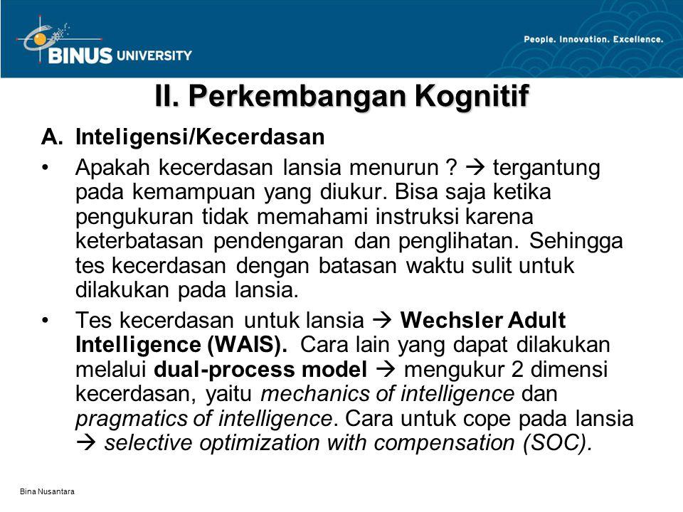 II. Perkembangan Kognitif