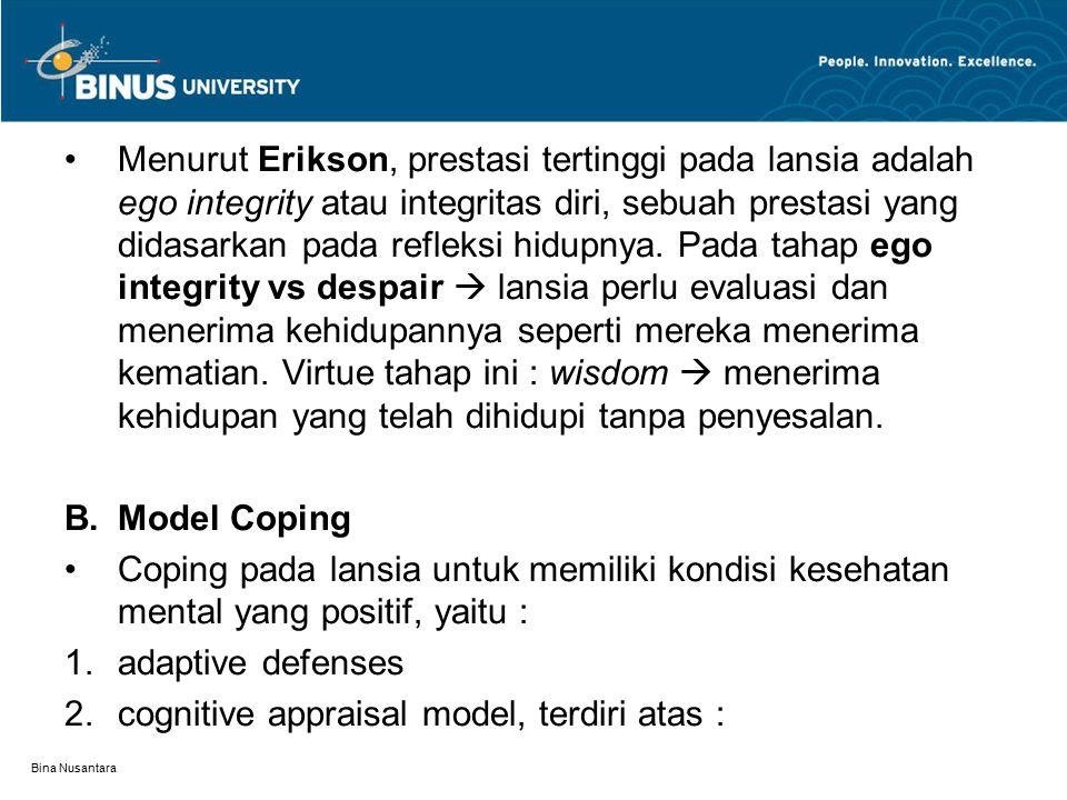 cognitive appraisal model, terdiri atas :